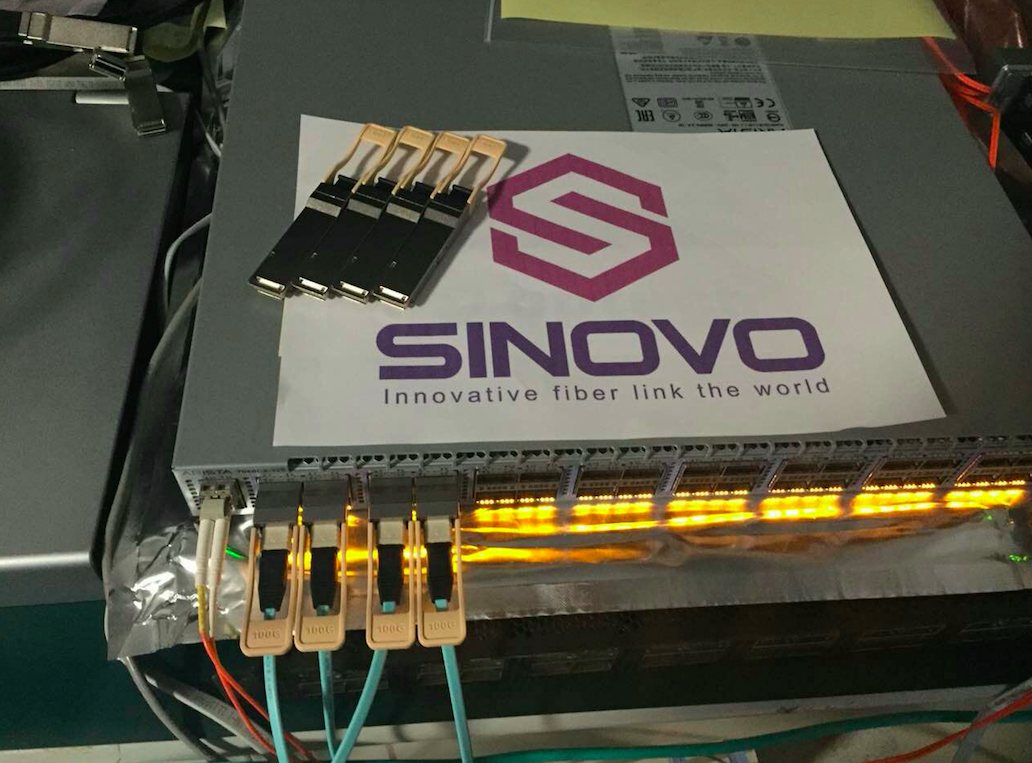 Sinovo 100G LR testing successful on Arista Switch