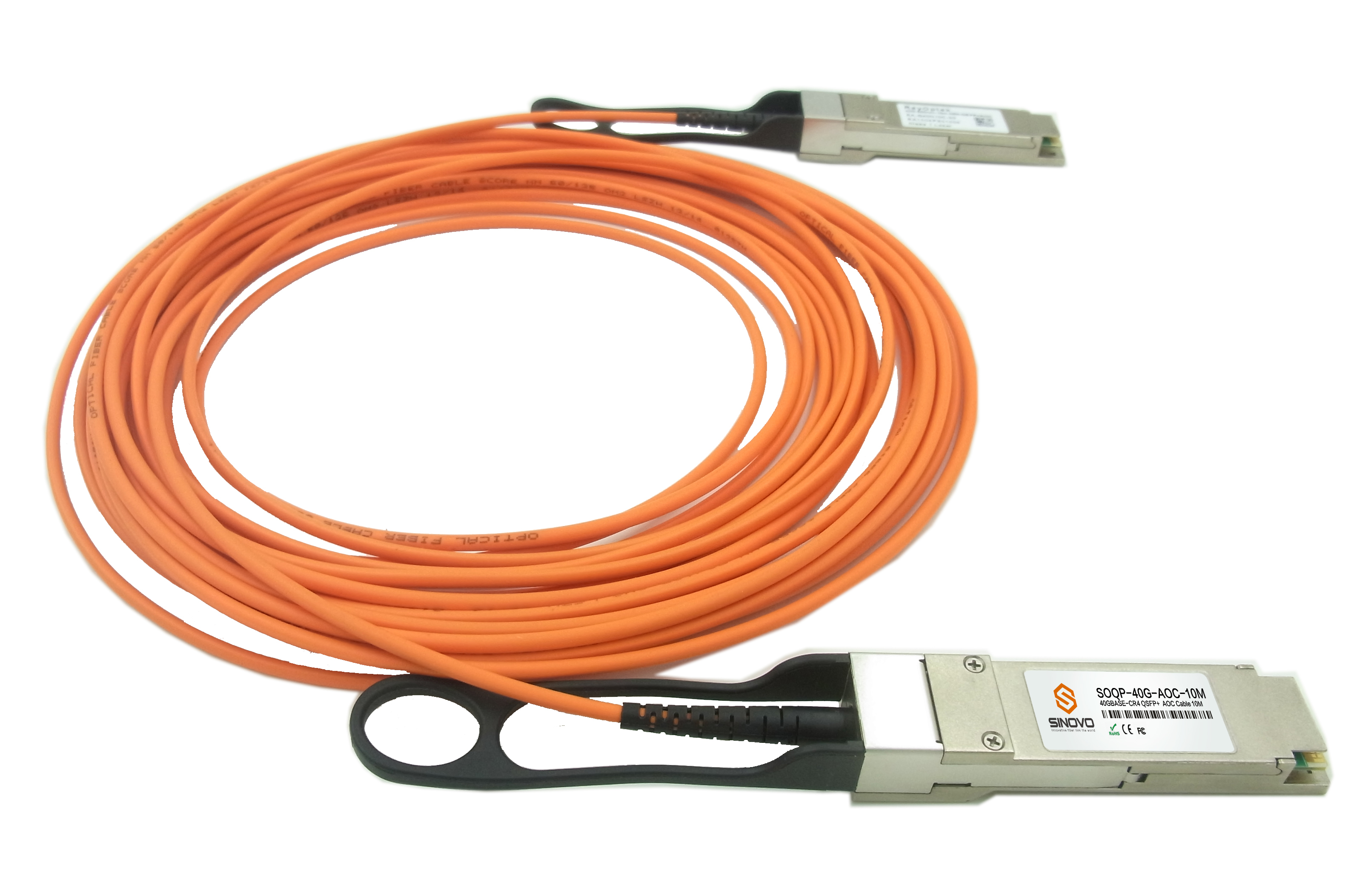 SINOVO Release out  4*SFP+ AOC Cable