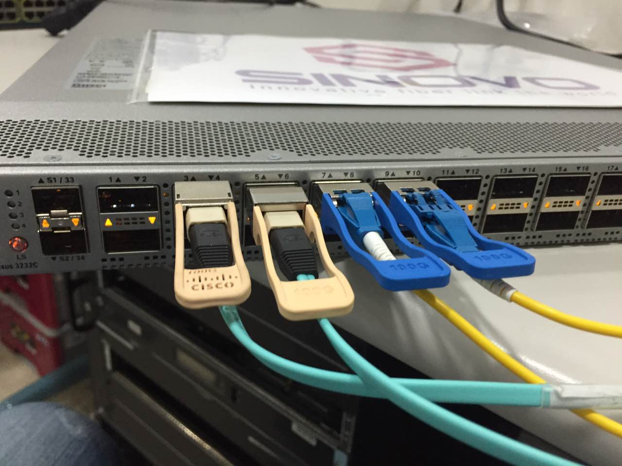 Sinovo 100G QSFP28 SR/LR running peferctly Cisco